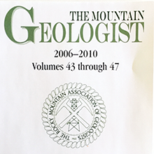 The Mountain Geologist 2006-2010 (CD)
